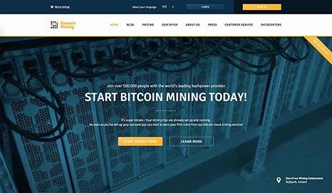 Genesis Mining Screenshot