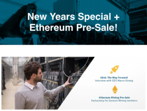 Ethereum Pre-Sale at Genesis Mining