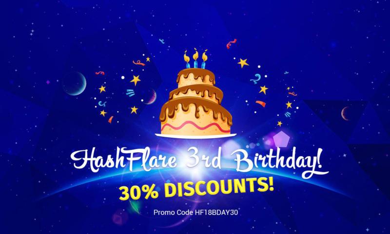 HashFlare 30% Discounts