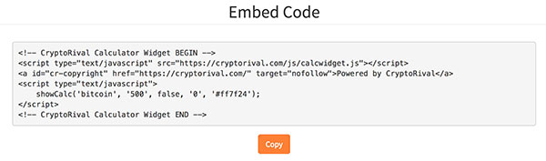 Embed Code Example