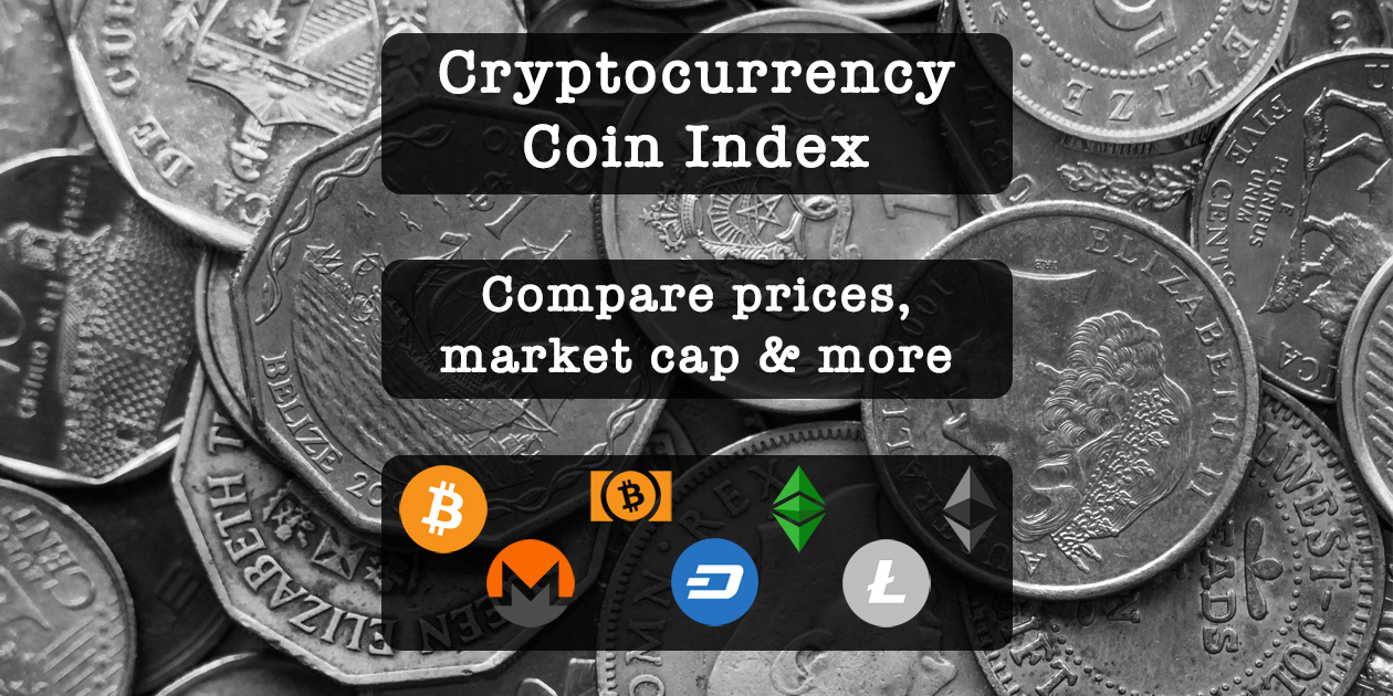 Cryptocurrency Coin Price and Market Cap Index | CryptoRival